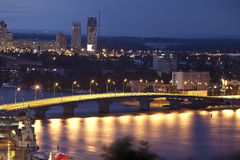 Night view on havansky bridge Royalty Free Stock Photo