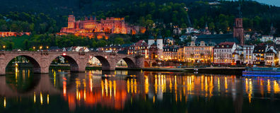 Night view of Heidelberg, Germany Royalty Free Stock Photo