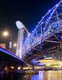 Night view of Helix Bridge Royalty Free Stock Photo