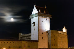 Night view of Herman Castle. Stock Photos