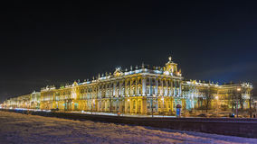 Night view of the Hermitage in St. Petersburg in the winter Stock Images