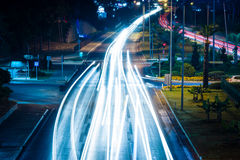 Night view of the highway between Antalya and Alanya Royalty Free Stock Photography