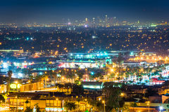 Night view from Hilltop Park, in Signal Hill  Royalty Free Stock Photo
