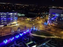 Night view from Hilton Cincinnati royalty free stock photo