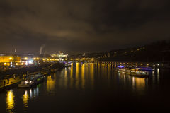 Night view on the historic Prague cityscape Royalty Free Stock Photos