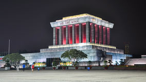 Night view of the Ho Chi Minh Mausoleum Stock Photography