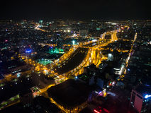Night view of Ho Chi Minh, Vietnam. Night view of Ho Chi Minh City, Vietnam Royalty Free Stock Images