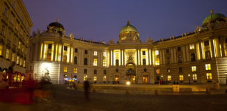 Night view Hofburg Palace.  Vienna Stock Image