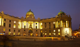 Night view Hofburg Palace.  Vienna Royalty Free Stock Photos