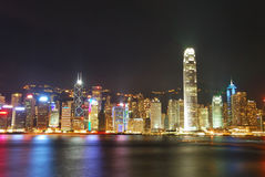 Night view of Hong Kong Stock Images