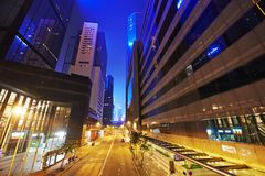 Night view on Hong Kong island Stock Photo