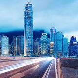 Night view of Hong Kong Stock Photography