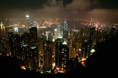 Night view of HongKong Stock Photos