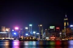 Night view of Hongkong Victoria harbor 2016. Night view and lightinging of Hongkong victoria harbor Royalty Free Stock Photography