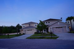 Night view of a house. Night view of Florida houses, taken in Tampa Royalty Free Stock Photos