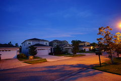 Night view of a house. Night view of Florida houses, taken in Tampa Stock Image