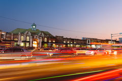 Night view of Hsinchu station Stock Photos