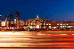 Night view of Hsinchu station Royalty Free Stock Images
