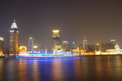 Night view of Huangpu river Royalty Free Stock Image