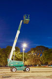 Night view of Hydraulic lift machine Stock Image