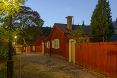 Night view of idyllic part of Stockholm Royalty Free Stock Photography