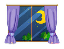 Night view. Illustration of a night view from a window vector illustration