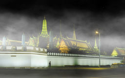 Night view image in front of the Grand Palace or Emerald Buddha Temple. Stock Photo