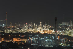 Night view of the industrial area Royalty Free Stock Photo