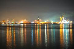Johore Industrial area with colourful reflections Stock Image
