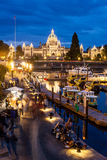 Night view of Inner Harbour in Victoria Stock Image