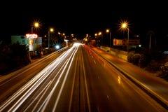 intense trail lights Stock Photo