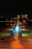 Night View of iron Bridge in Chiang mai Royalty Free Stock Image