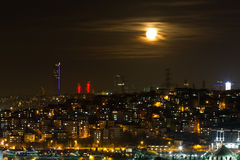 Night view of Istanbul Stock Image