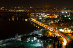 Night view of Istanbul Stock Photography