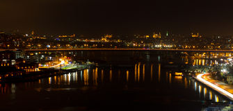 Night view of Istanbul royalty free stock images