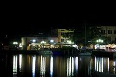 Night view of the Italian city Salo Stock Photos