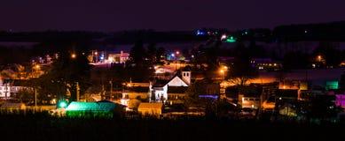 Night view of Jefferson, Pennsylvania. Royalty Free Stock Photography
