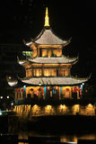 Night view of Jia Xiulou in China Royalty Free Stock Photos