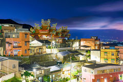 Night view of Jiufen architecture Stock Image