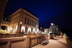 Night view of Judiciary City, Plateau St. Espirit. Night view of Judiciary City - Plateau St. Espirit in Luxembourg stock photos