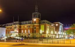 Night view of Kiel railway station Royalty Free Stock Photo