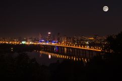 Night view of Kiev Royalty Free Stock Photo