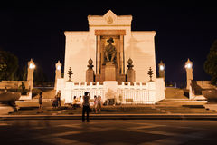 Night view of King Rama I Monument Stock Images