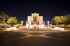 Night view of King Rama I Monument Stock Image
