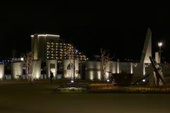 Night view of the Kobe Memorial Park in Kobe, Japan stock photos