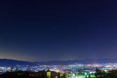 Night View of the Kofu city Royalty Free Stock Photos