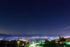 Night View of the Kofu city Royalty Free Stock Photography