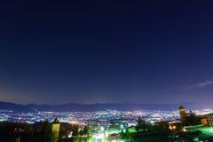 Night View of the Kofu city Royalty Free Stock Photography