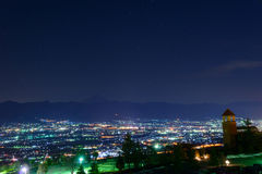 Night View of the Kofu city Stock Photo