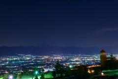 Night View of the Kofu city Stock Photo